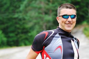 Mountain biker portrait