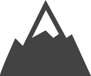 Mountain Glyph Icon