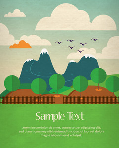 Mountain Landscape Poster (editable Text)