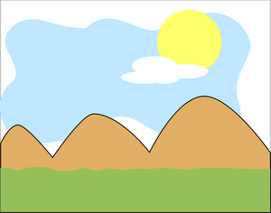 Mountain Landscape Vector Background