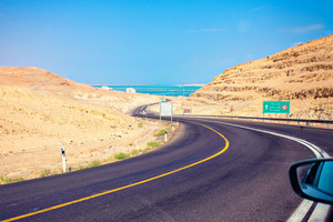 Mountain road to Dead Sea