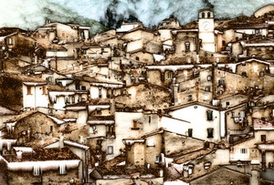 Mountain Village In The Abruzzi