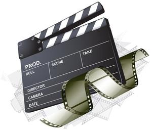 Movie Clapper Board. Vector.