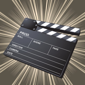Movie Clapper Board. Vector.