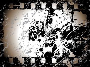 Movie Stripe With Grunge Elements