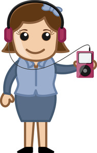 Mp3 Player - Business Cartoons