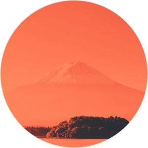 Mt. Fuji with lake. Kawaguchi-ko. Yamanashi. Japan