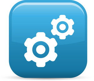 Multiple Gears Elements Glossy Icon