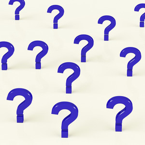 Multiple Question Marks As Symbol For Information