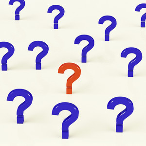 Multiple Question Marks As Symbol For Questions And Answers