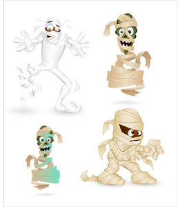Mummy Vector Characters