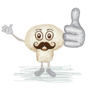 Mushroom Vegetable Mustache