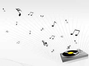 Music Background With Turn Table