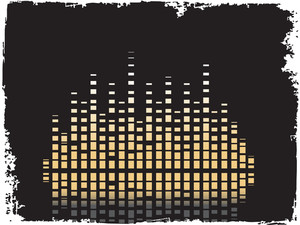 Music Composition Graph Isolated On Black