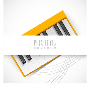 Music Concept With Piano And Stylish Text