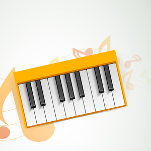 Music Concept With Piano Can Be Use As Flyer Poster Banner Or Background For Musical Parties And Concert