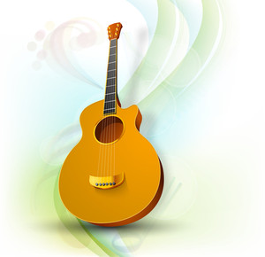 Music guitar concept on beautiful background
