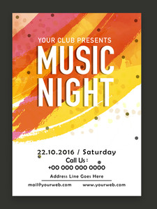 Music Night Party celebration one page Flyer