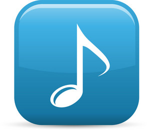 Music Note Elements Glossy Icon