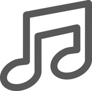 Music Note Stroke Icon