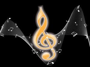 Music Notes With Black Background