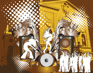 Music Poster Vector Illustration