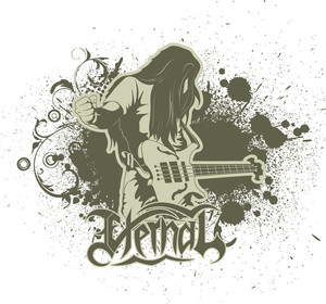 Music Vector T-shirt Design With Guitar Player
