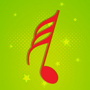 Abstract musical concept with musical symbol