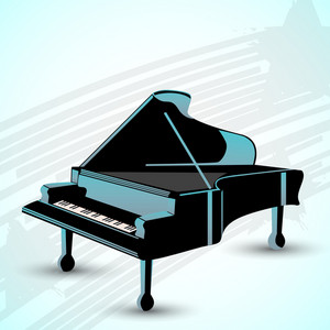 Abstract musical concept with piano