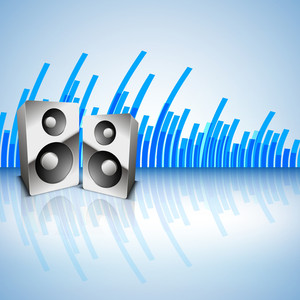 Musical Background With Loud Speakers-