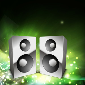 Musical Background With Loudspeakers