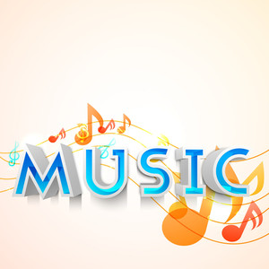 Musical Background With Musical Notes Can Be Use As Flyer Poster Or Banner In Concerts And Parties