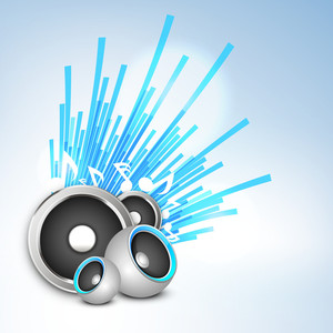 Musical Background With Speakers