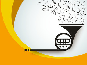 Musical background with trumpet.