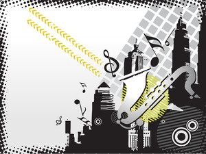 Musical City Background