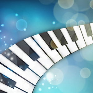 Musical concept with piano