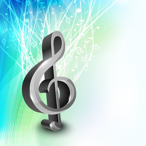 Musical Note With Beautiful Decorated Background