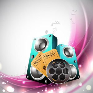 Musical Party Concept With Speakers