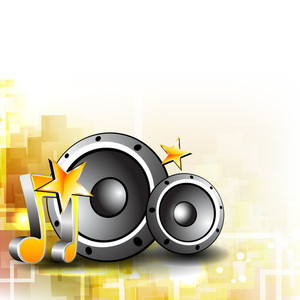 Musical shiny background with spakers