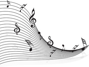 Musical Wave Illustration