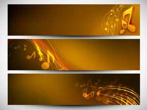 Musical Website Header Or Banner Set