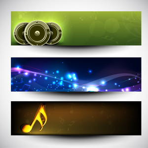 Musical Website Headers Or Banners.