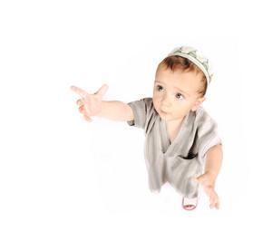 Muslim arabic little cute boy isolated on white