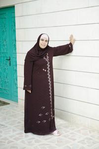 Muslim Arabic woman standing