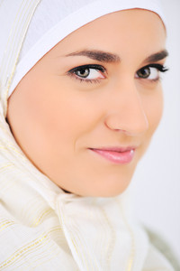 Muslim beautiful woman portrait