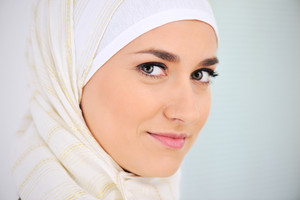 Muslim beautiful woman portrait