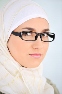 Muslim business woman in office