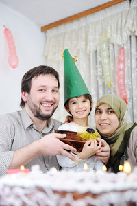 Muslim family birthday