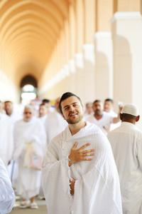 Muslim pilgrim in Makkah
