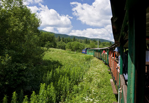 Narrow-gauge Railway In Bieszczady Poland